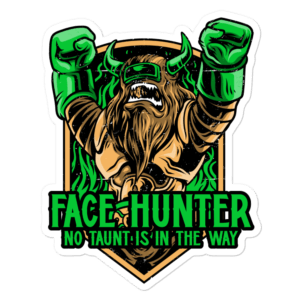 "Face Hunter Sticker - 5.5""x5.5"""