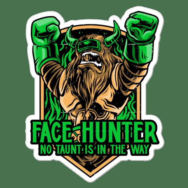 """Face Hunter Sticker - 5.5""""x5.5"""""""