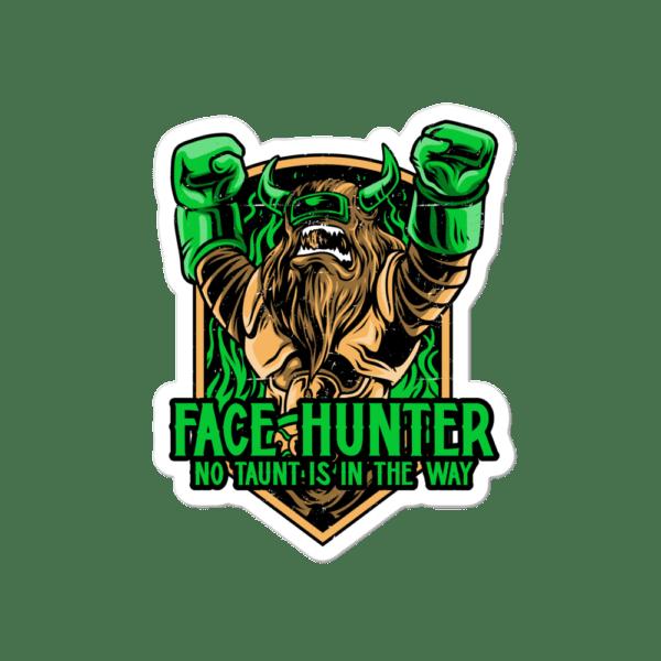 """Face Hunter Sticker - 4""""x4"""""""