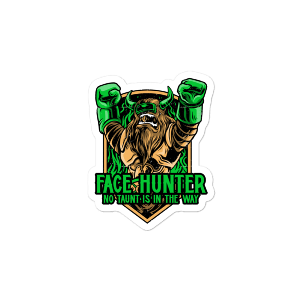 "Face Hunter Sticker - 3""x3"""