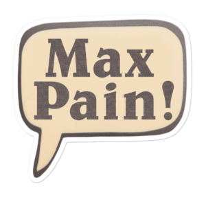 Max Pain Hearthstone Sticker