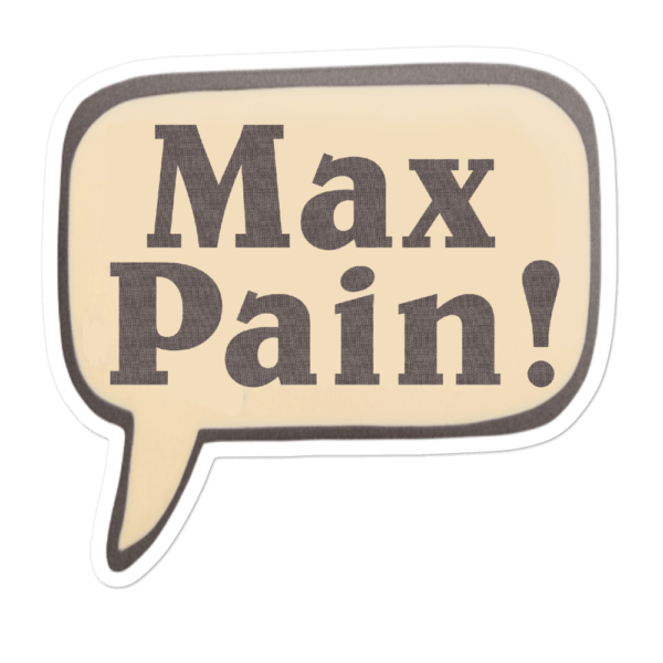 Max Pain Hearthstone Sticker