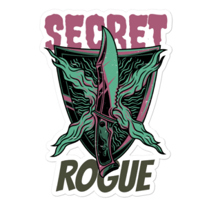 "Secret Rogue Sticker 5.5""x5.5"""